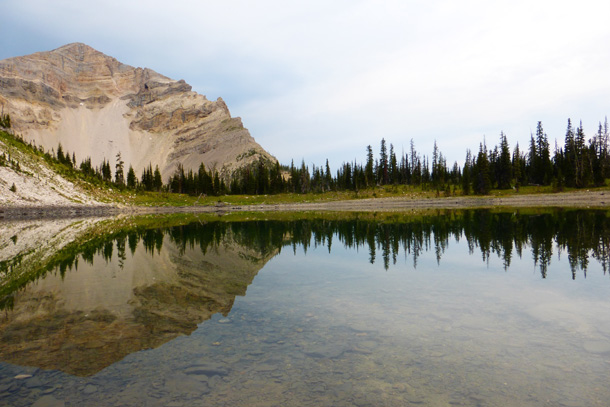 Glassy surface on Dean Lake