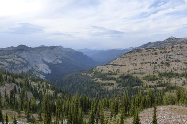 Looking north toward Glacier National Park